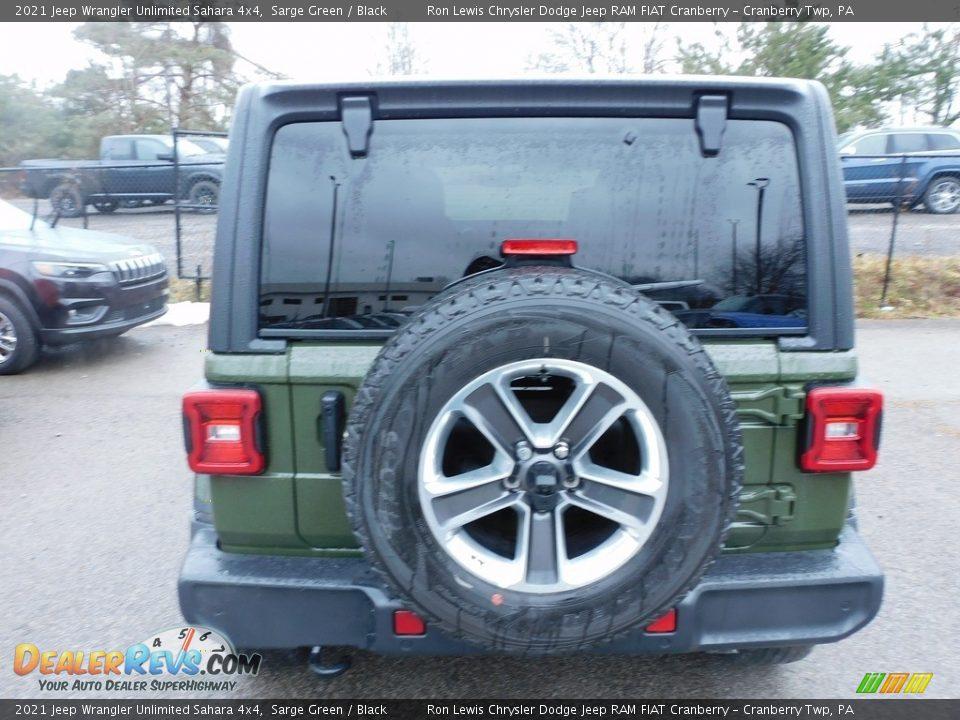 2021 Jeep Wrangler Unlimited Sahara 4x4 Sarge Green / Black Photo #6