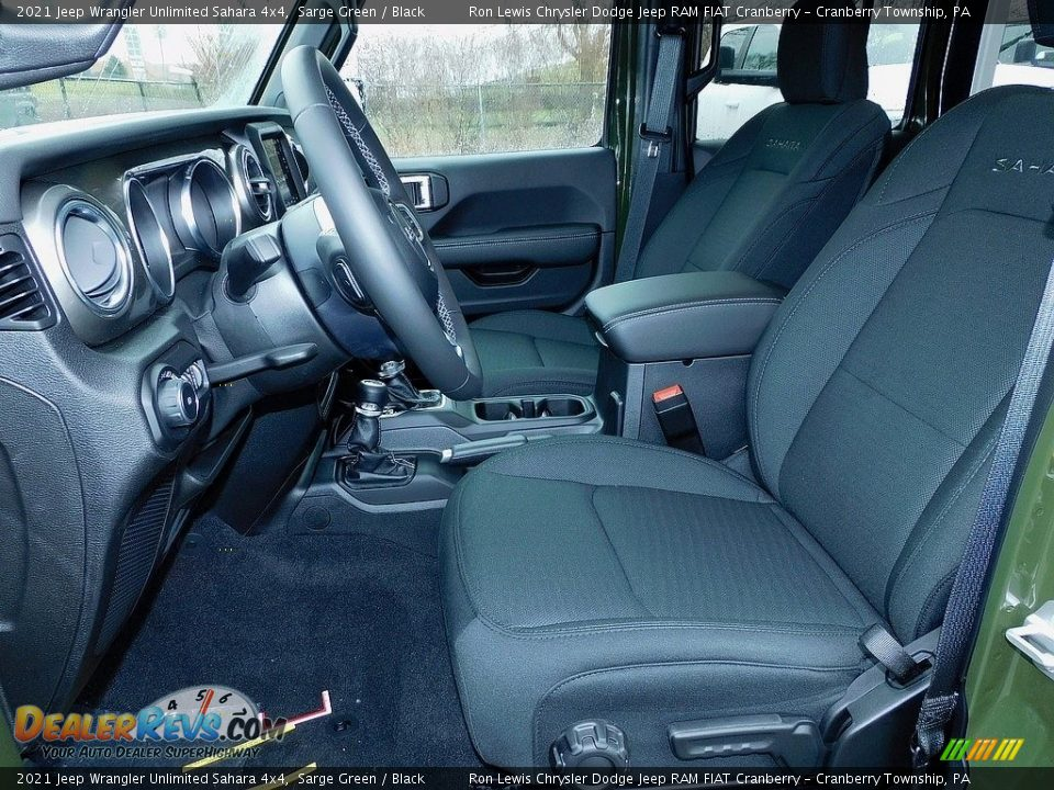 2021 Jeep Wrangler Unlimited Sahara 4x4 Sarge Green / Black Photo #11
