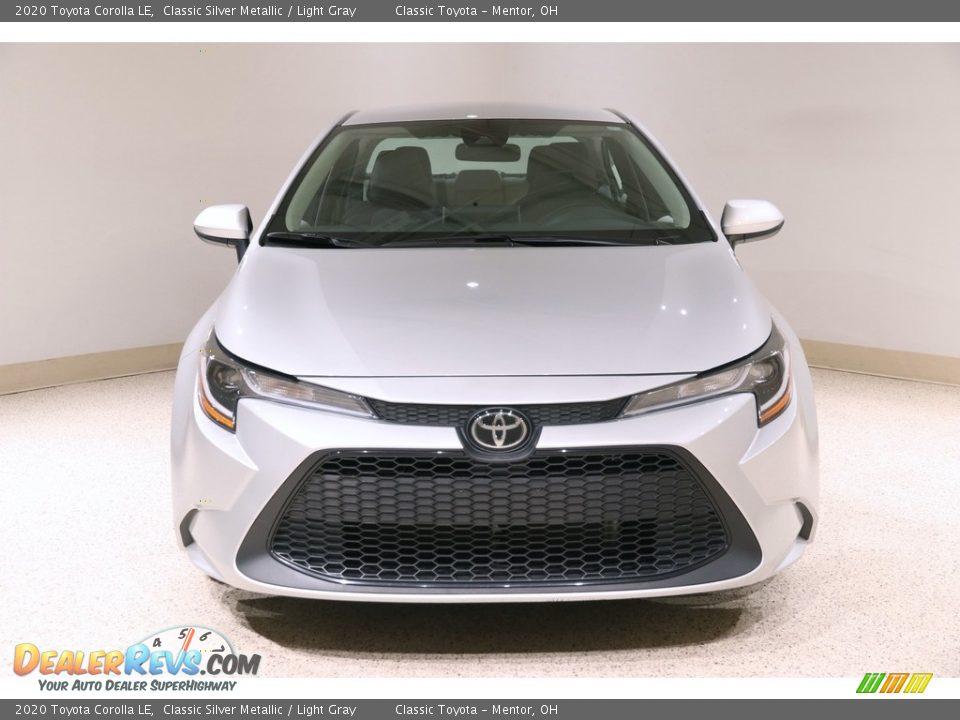 2020 Toyota Corolla LE Classic Silver Metallic / Light Gray Photo #2