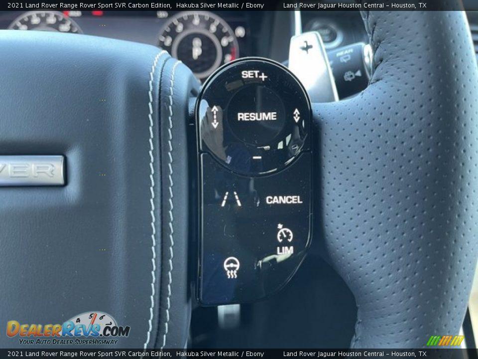 2021 Land Rover Range Rover Sport SVR Cabon Edition Steering Wheel Photo #19
