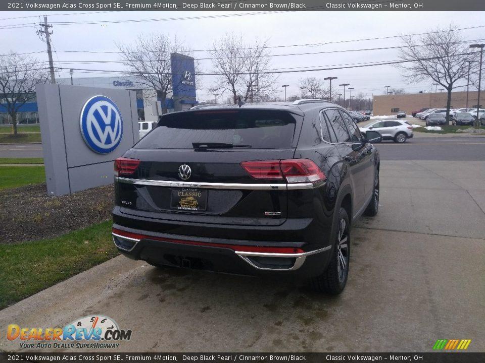 2021 Volkswagen Atlas Cross Sport SEL Premium 4Motion Deep Black Pearl / Cinnamon Brown/Black Photo #2