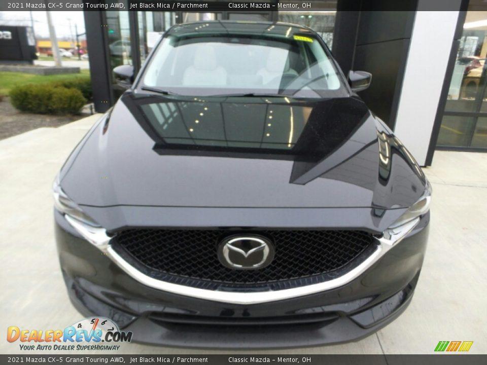 2021 Mazda CX-5 Grand Touring AWD Jet Black Mica / Parchment Photo #3