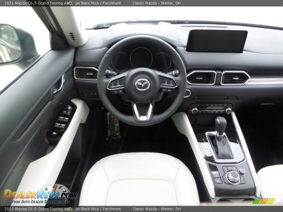 2021 Mazda CX-5 Grand Touring AWD Jet Black Mica / Parchment Photo #8