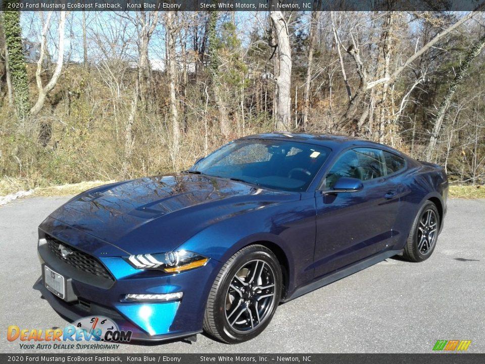 2020 Ford Mustang EcoBoost Fastback Kona Blue / Ebony Photo #3