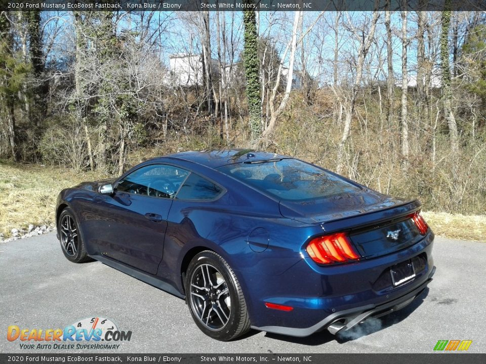 2020 Ford Mustang EcoBoost Fastback Kona Blue / Ebony Photo #9