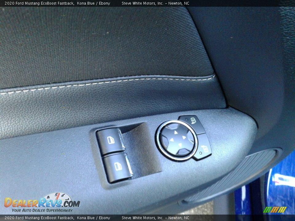 2020 Ford Mustang EcoBoost Fastback Kona Blue / Ebony Photo #12