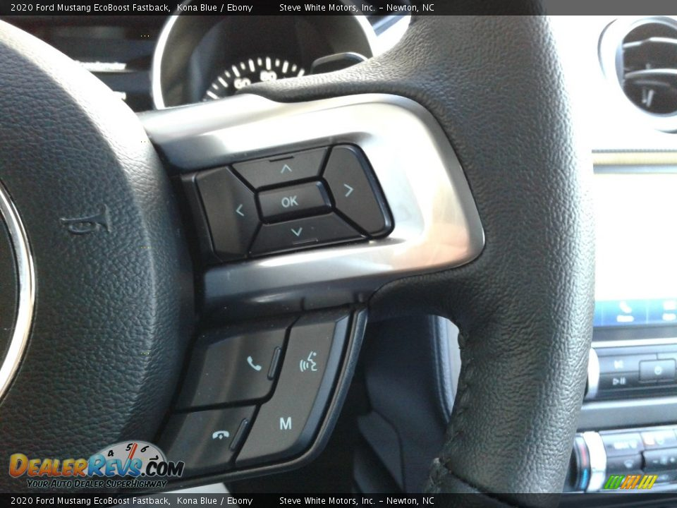 2020 Ford Mustang EcoBoost Fastback Kona Blue / Ebony Photo #17