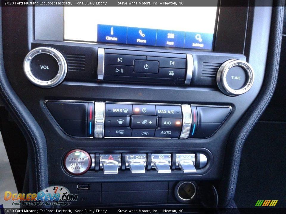 2020 Ford Mustang EcoBoost Fastback Kona Blue / Ebony Photo #21