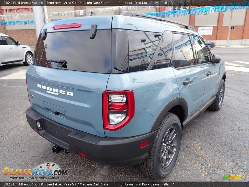 2021 Ford Bronco Sport Big Bend 4x4 Area 51 / Medium Dark Slate Photo #2