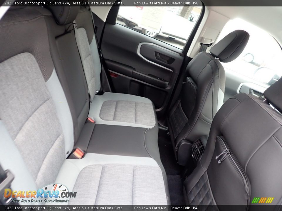 Rear Seat of 2021 Ford Bronco Sport Big Bend 4x4 Photo #9