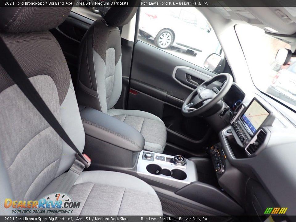 Medium Dark Slate Interior - 2021 Ford Bronco Sport Big Bend 4x4 Photo #10