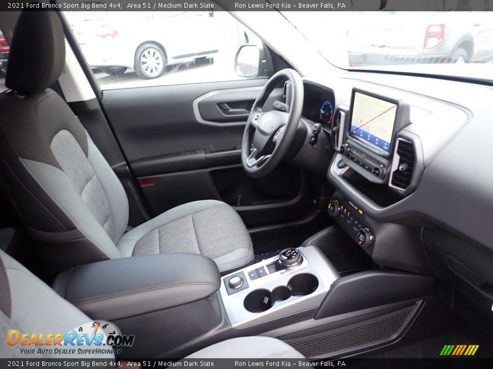 Front Seat of 2021 Ford Bronco Sport Big Bend 4x4 Photo #11