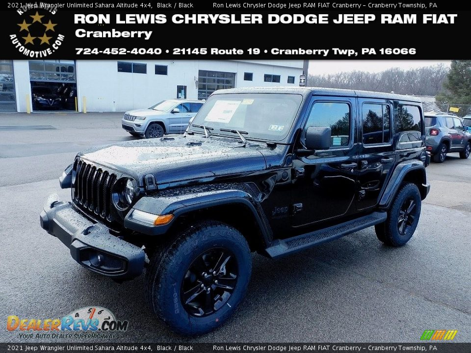 2021 Jeep Wrangler Unlimited Sahara Altitude 4x4 Black / Black Photo #1