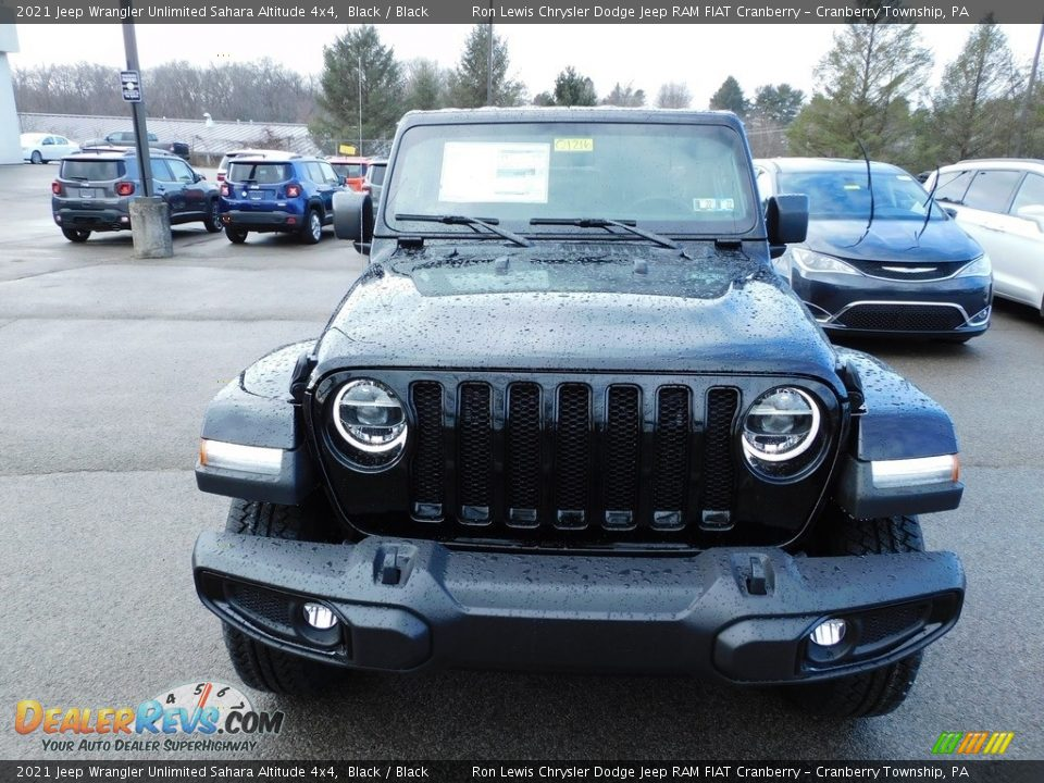 2021 Jeep Wrangler Unlimited Sahara Altitude 4x4 Black / Black Photo #2