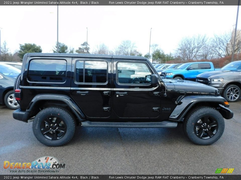 2021 Jeep Wrangler Unlimited Sahara Altitude 4x4 Black / Black Photo #4