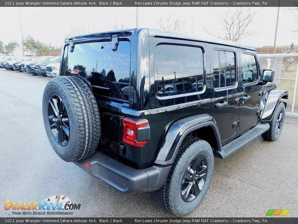 2021 Jeep Wrangler Unlimited Sahara Altitude 4x4 Black / Black Photo #5