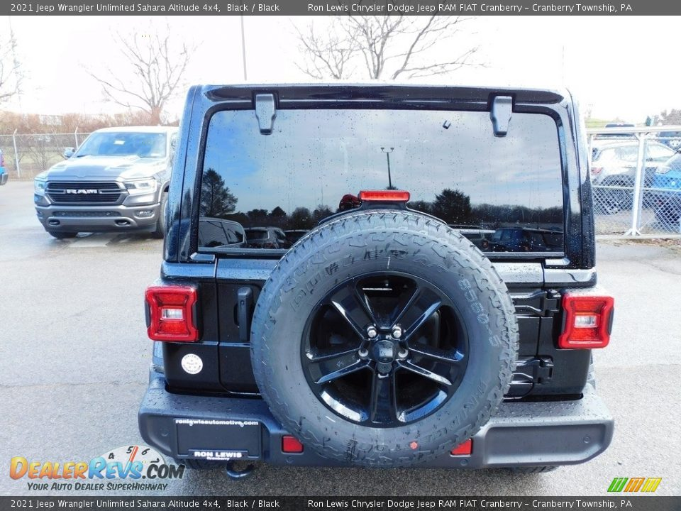 2021 Jeep Wrangler Unlimited Sahara Altitude 4x4 Black / Black Photo #6