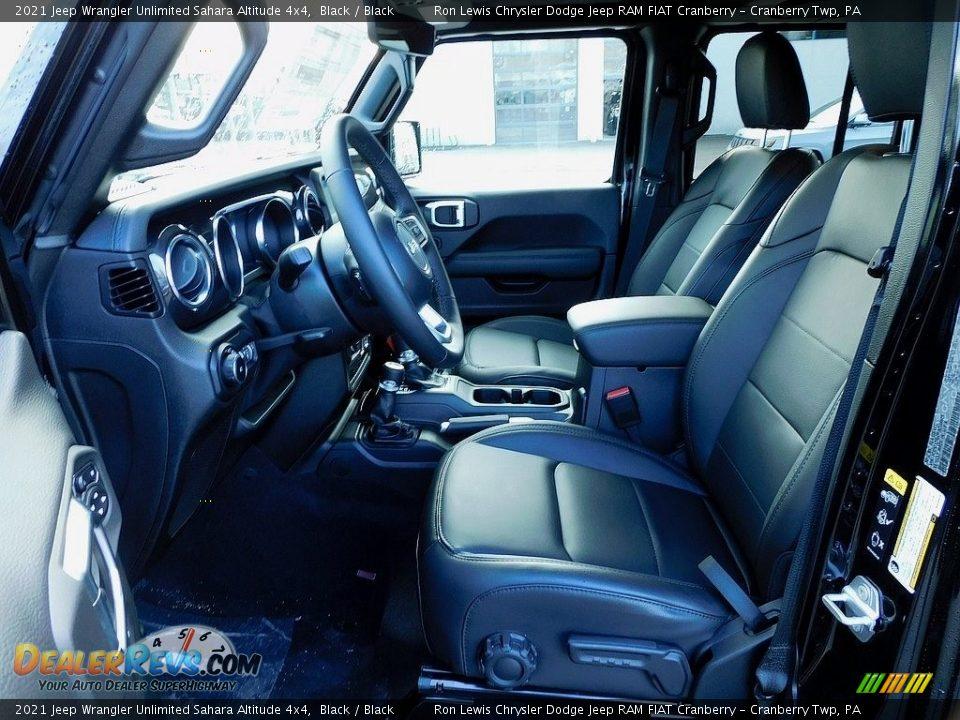 2021 Jeep Wrangler Unlimited Sahara Altitude 4x4 Black / Black Photo #11