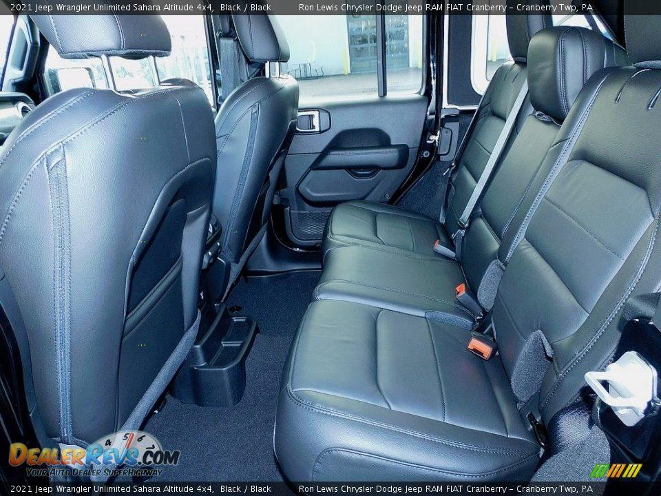 2021 Jeep Wrangler Unlimited Sahara Altitude 4x4 Black / Black Photo #12