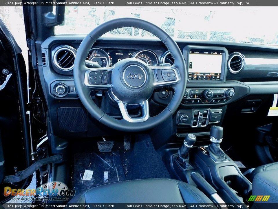 2021 Jeep Wrangler Unlimited Sahara Altitude 4x4 Black / Black Photo #13