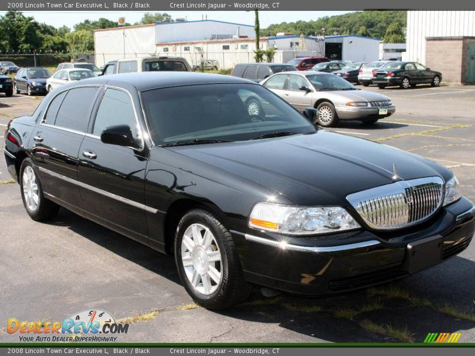 2008 lincoln town car executive l black black photo 3. Black Bedroom Furniture Sets. Home Design Ideas
