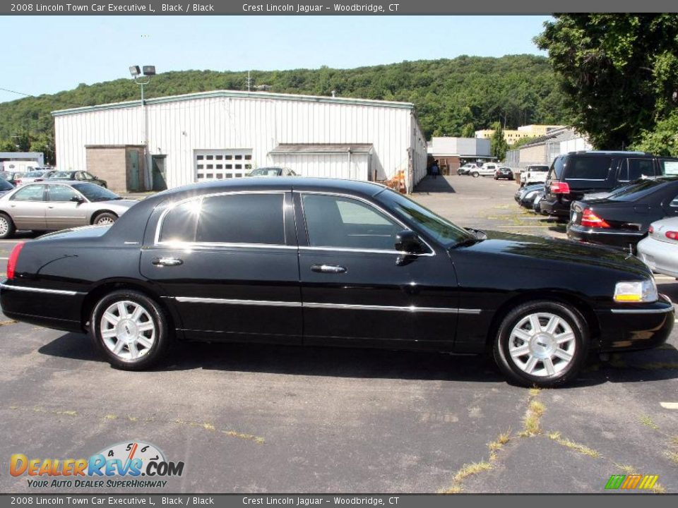 2008 lincoln town car executive l black black photo 4. Black Bedroom Furniture Sets. Home Design Ideas