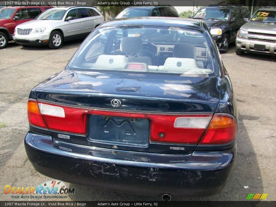1997 mazda protege lx vivid blue mica beige photo 4. Black Bedroom Furniture Sets. Home Design Ideas