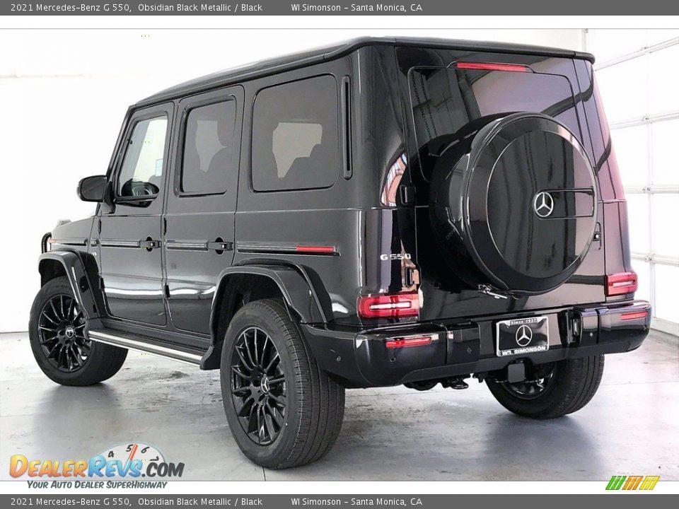 2021 Mercedes-Benz G 550 Obsidian Black Metallic / Black Photo #2