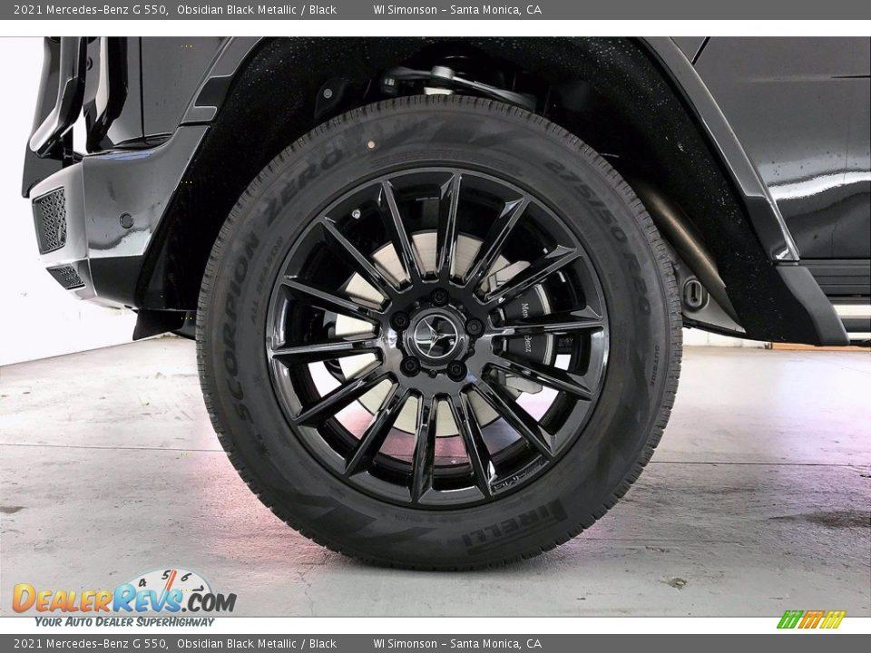 2021 Mercedes-Benz G 550 Obsidian Black Metallic / Black Photo #9