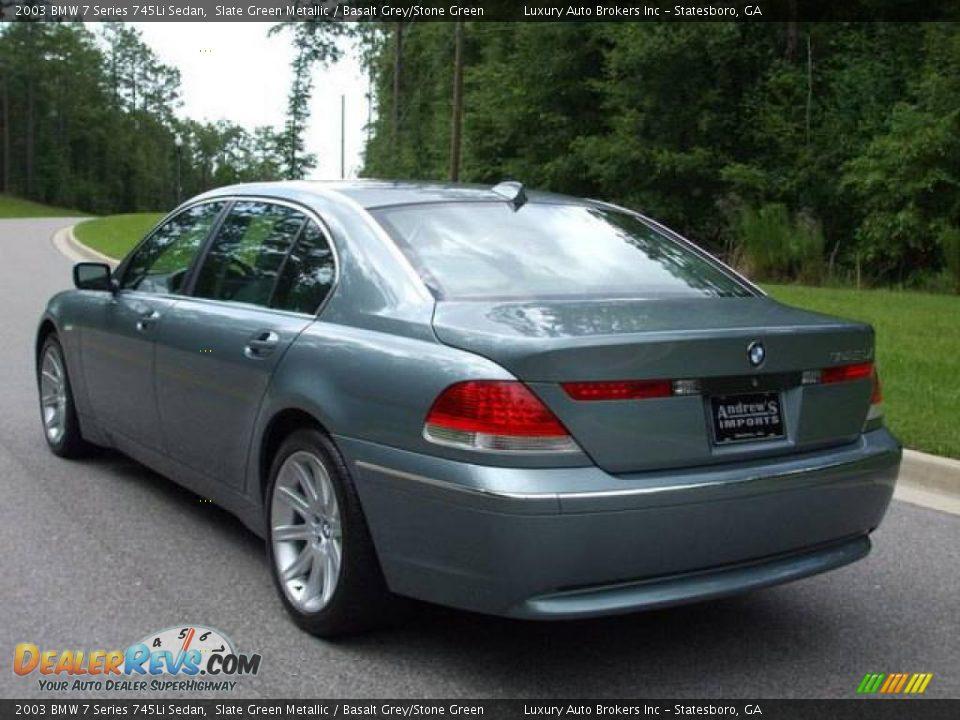 2003 bmw 7 series 745li sedan slate green metallic. Black Bedroom Furniture Sets. Home Design Ideas