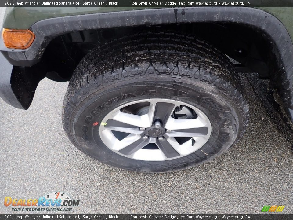 2021 Jeep Wrangler Unlimited Sahara 4x4 Sarge Green / Black Photo #2