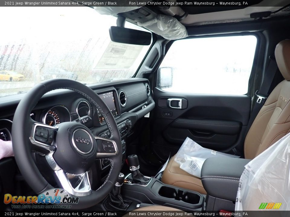 2021 Jeep Wrangler Unlimited Sahara 4x4 Sarge Green / Black Photo #12