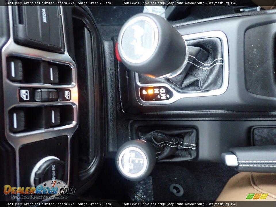 2021 Jeep Wrangler Unlimited Sahara 4x4 Sarge Green / Black Photo #20