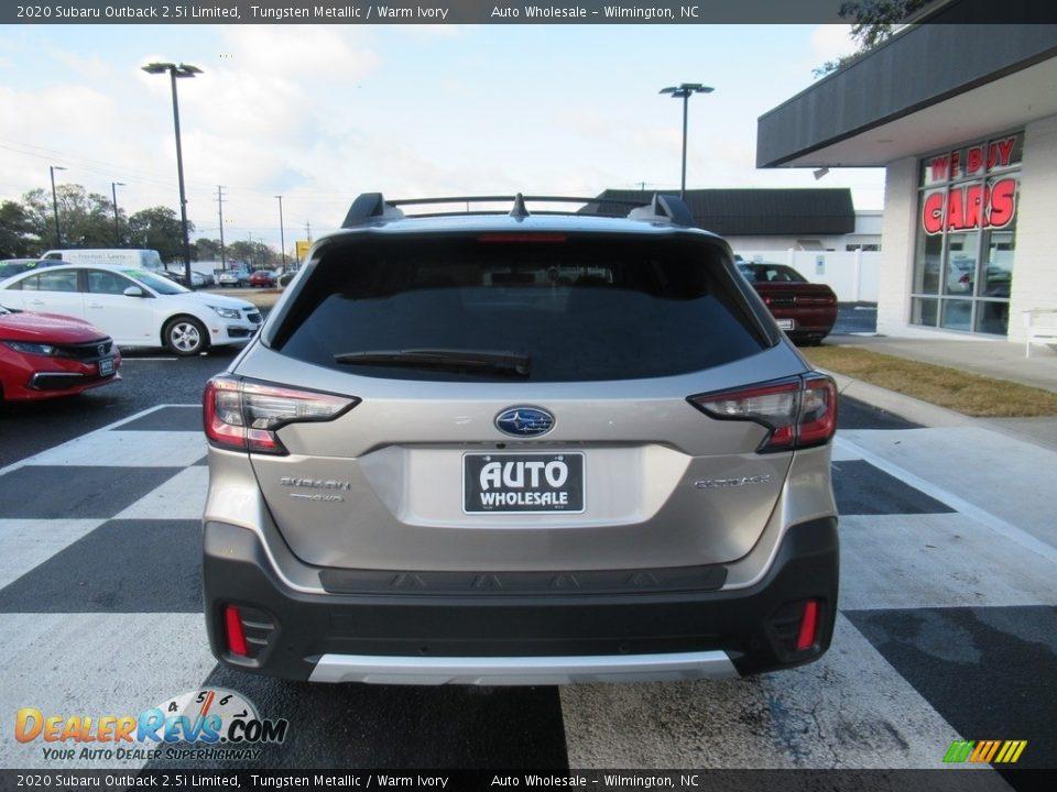 2020 Subaru Outback 2.5i Limited Tungsten Metallic / Warm Ivory Photo #4
