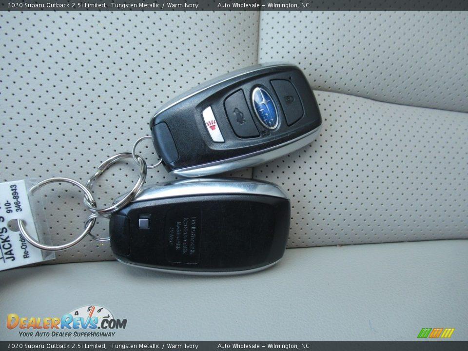 2020 Subaru Outback 2.5i Limited Tungsten Metallic / Warm Ivory Photo #20