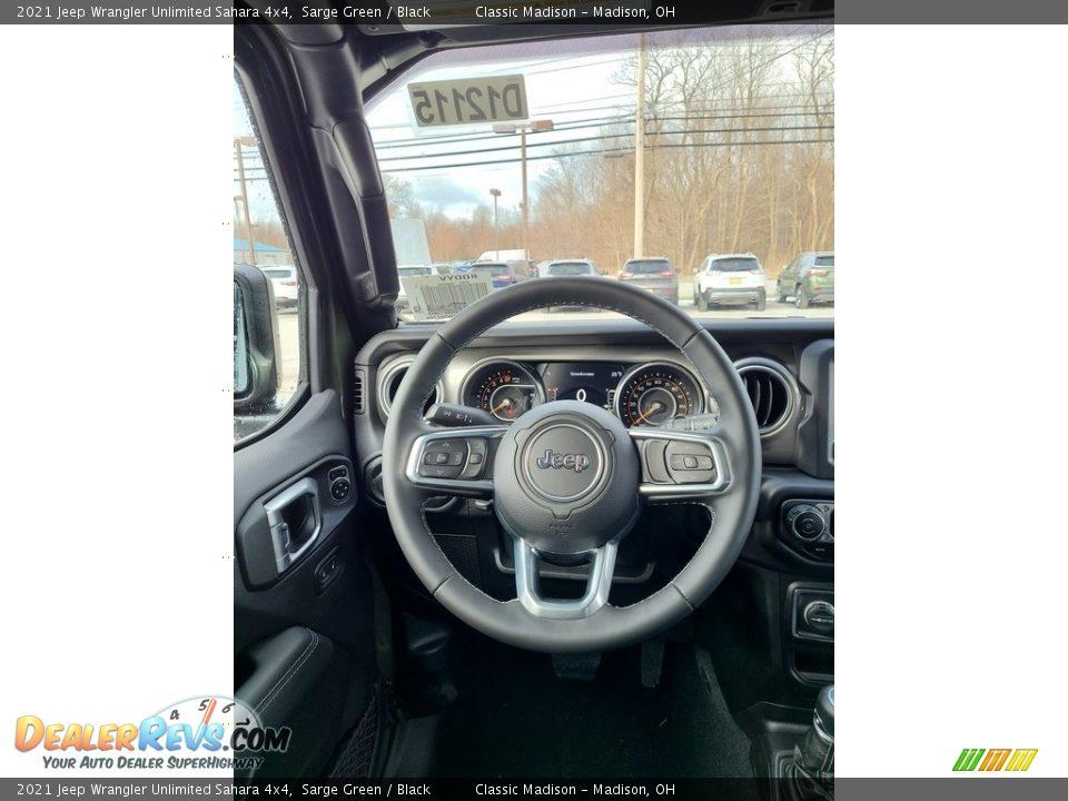 2021 Jeep Wrangler Unlimited Sahara 4x4 Sarge Green / Black Photo #5