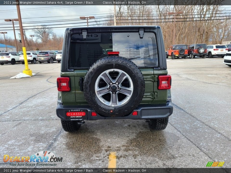 2021 Jeep Wrangler Unlimited Sahara 4x4 Sarge Green / Black Photo #10