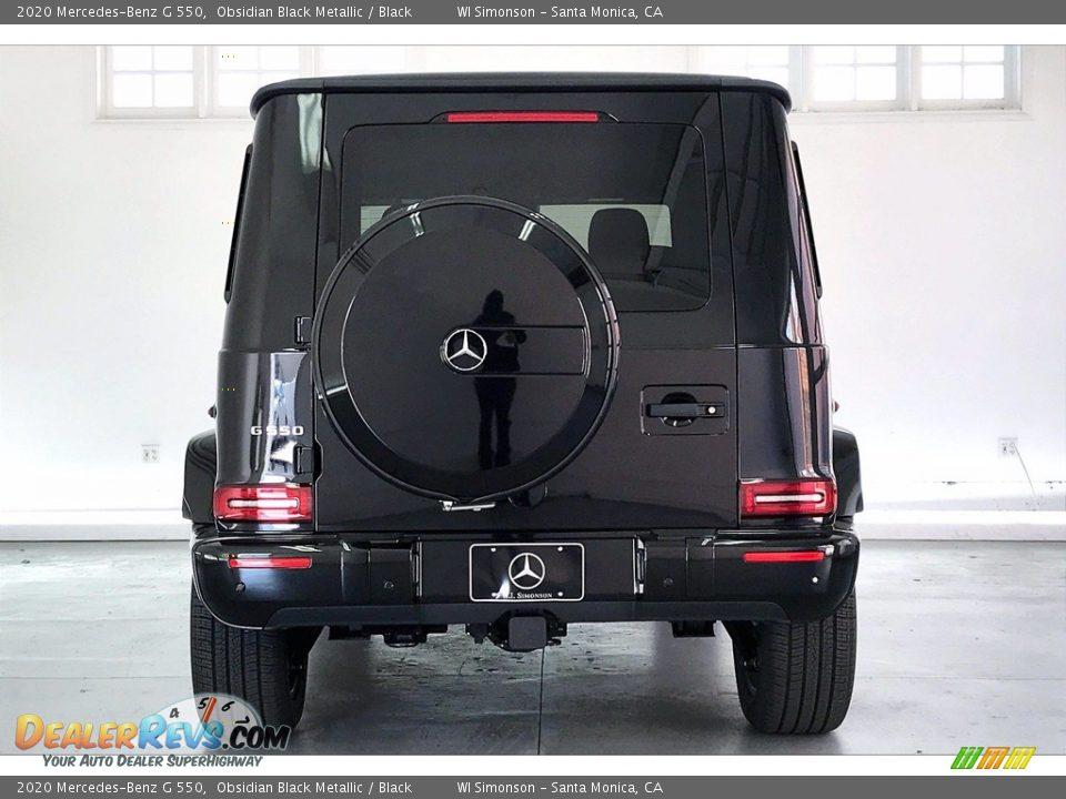 2020 Mercedes-Benz G 550 Obsidian Black Metallic / Black Photo #3