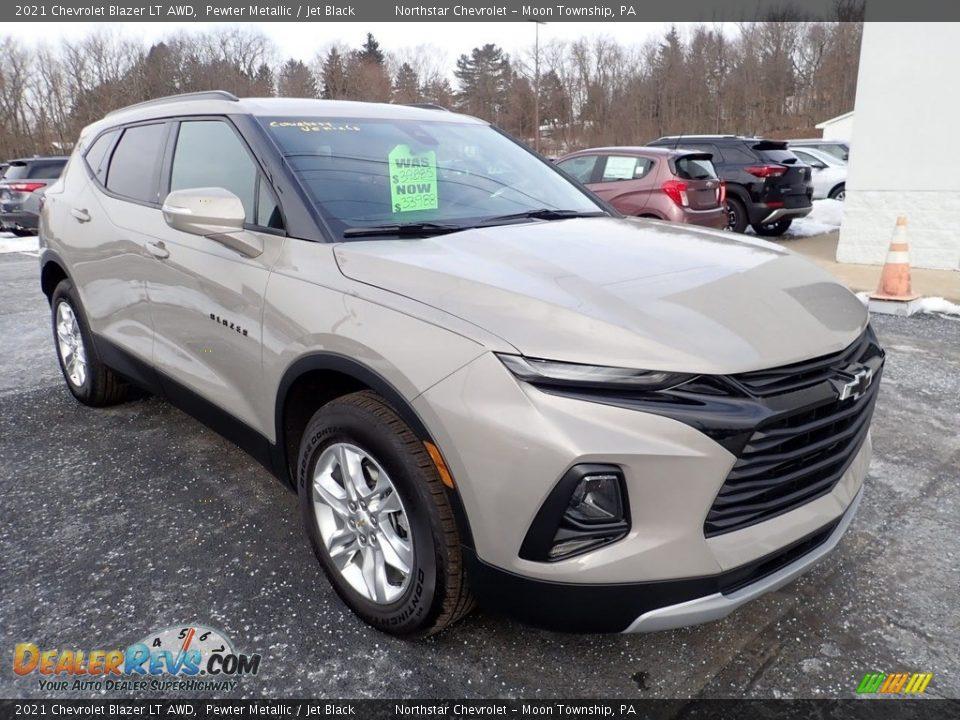Pewter Metallic 2021 Chevrolet Blazer LT AWD Photo #8