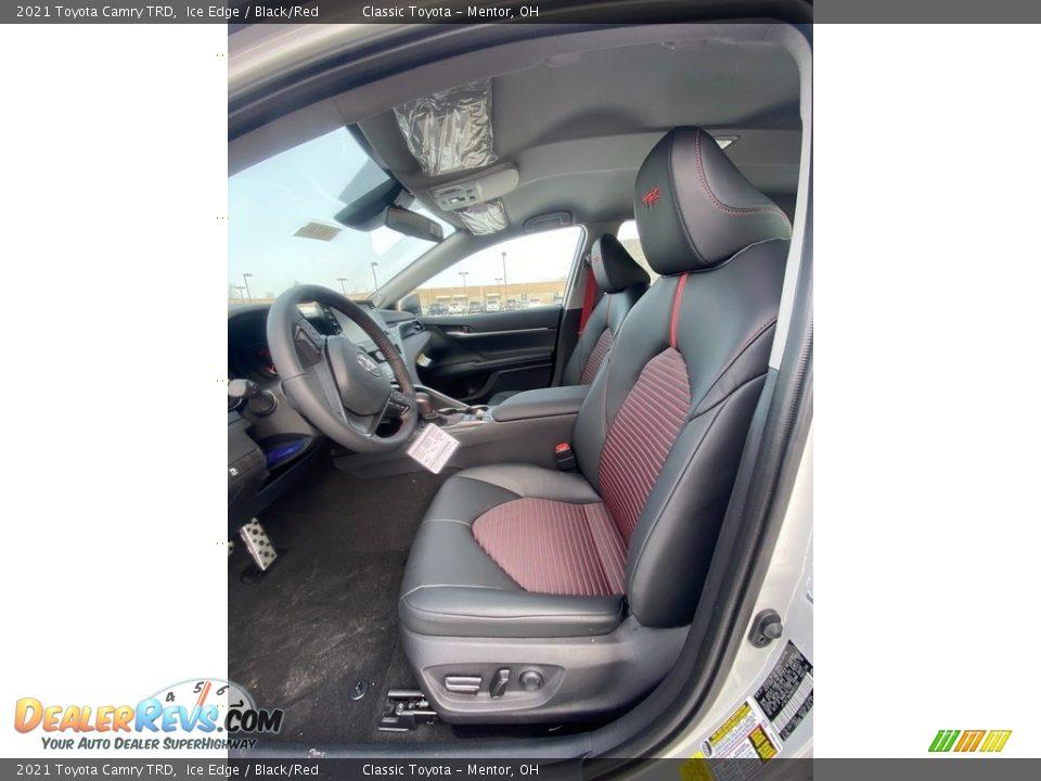 Black/Red Interior - 2021 Toyota Camry TRD Photo #2