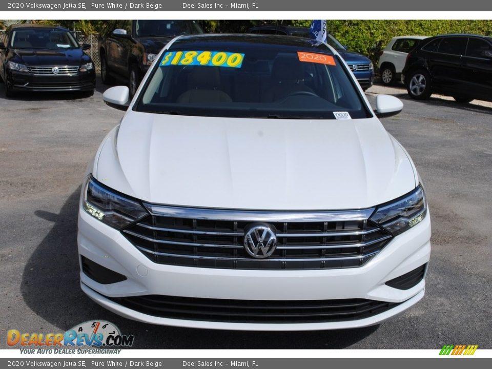 2020 Volkswagen Jetta SE Pure White / Dark Beige Photo #3