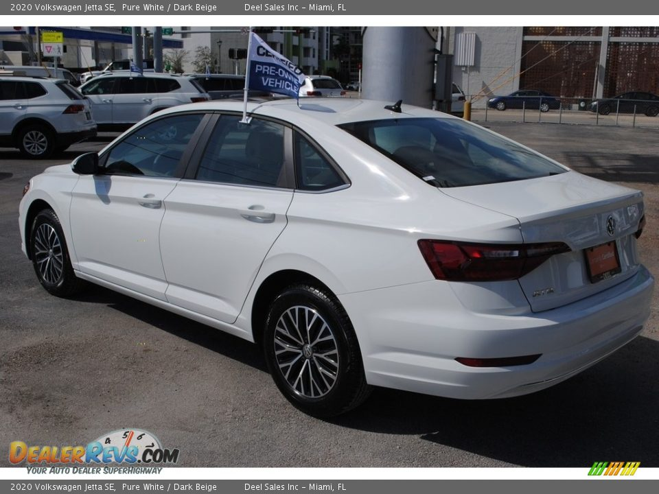 2020 Volkswagen Jetta SE Pure White / Dark Beige Photo #6