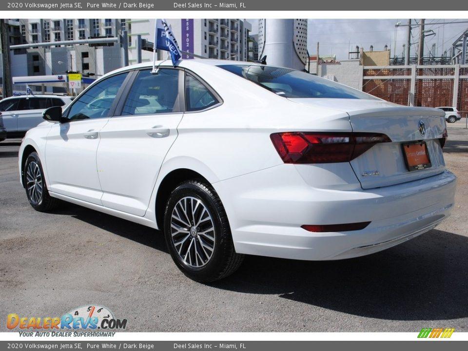 2020 Volkswagen Jetta SE Pure White / Dark Beige Photo #7