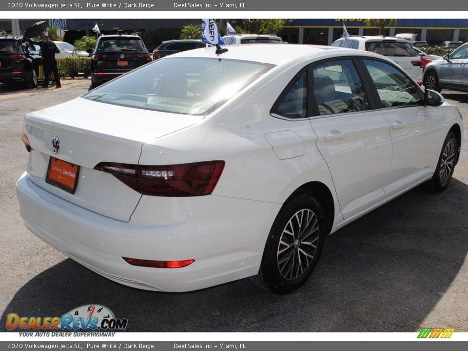 2020 Volkswagen Jetta SE Pure White / Dark Beige Photo #9