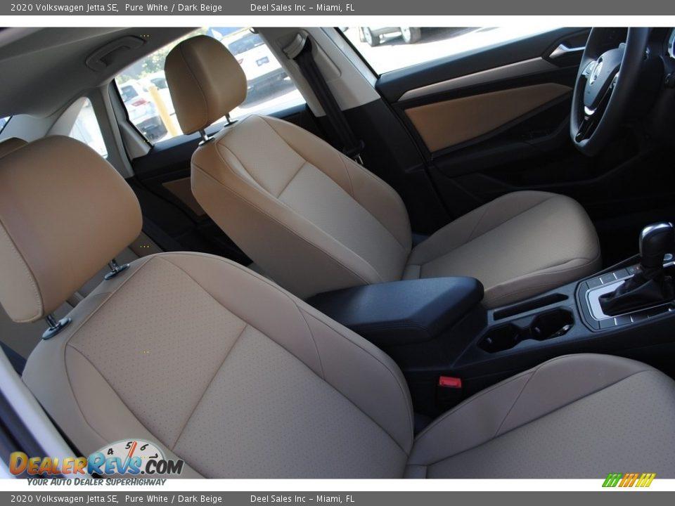 2020 Volkswagen Jetta SE Pure White / Dark Beige Photo #18