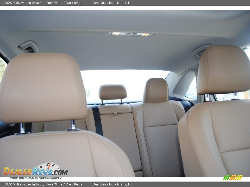 2020 Volkswagen Jetta SE Pure White / Dark Beige Photo #19