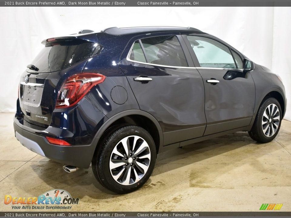 2021 Buick Encore Preferred AWD Dark Moon Blue Metallic / Ebony Photo #2