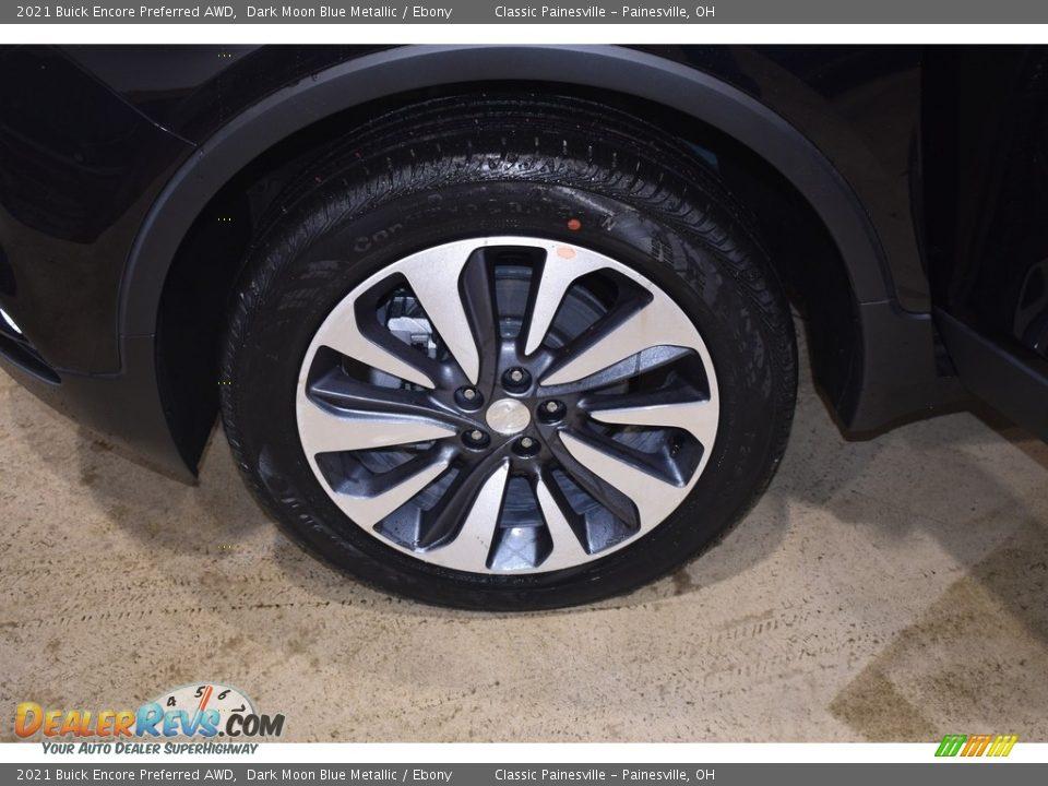 2021 Buick Encore Preferred AWD Dark Moon Blue Metallic / Ebony Photo #5