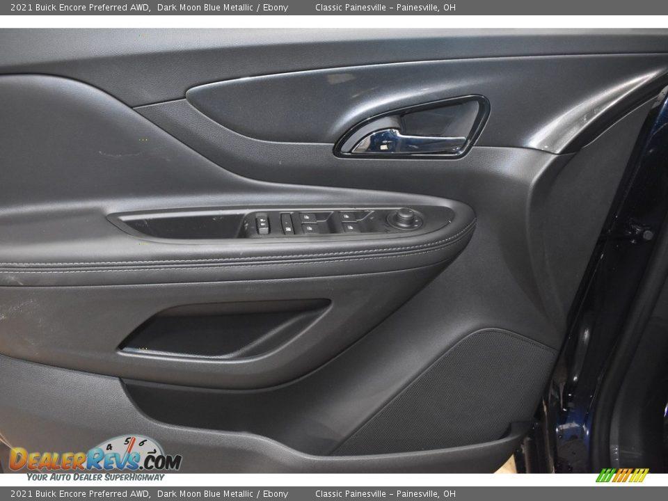 2021 Buick Encore Preferred AWD Dark Moon Blue Metallic / Ebony Photo #8