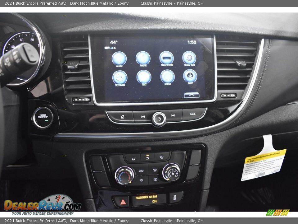 2021 Buick Encore Preferred AWD Dark Moon Blue Metallic / Ebony Photo #11